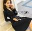 &#x1F380 Lady Ribbon's Made &#x1F380 Lady Lena Plain Basic Black Dress with Metal Ring thumbnail 3