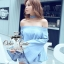 &#x2654Denim off-shoulder bell sleeve blouse&#x2654 &#x2661Odee&Cutie Daily Fashion 2016&#x2661 thumbnail 2