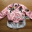 &#x1F380 Lady Ribbon's Made &#x1F380 Lady Esthelle Sporty Feminine Red Roses Embroidered Pink Bomber Jacket thumbnail 4