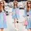 Seoul Secret Say's... Pastel Fink Paint Denim Dress thumbnail 6