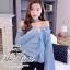 &#x2654Denim off-shoulder bell sleeve blouse&#x2654 &#x2661Odee&Cutie Daily Fashion 2016&#x2661 thumbnail 8