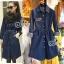 Sevy Long Sleeve Golden Peg Shirt Style Denim Mini Dress thumbnail 1