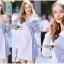 🎀 Lady Ribbon's Made 🎀 Lady Liz Two-Tone Off-Shoulder Cotton Shirt Dress thumbnail 4