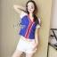 Sevy Sport Girl Knit V-Nack Zipper Front T-Shirt thumbnail 6