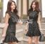 &#x1F380 Lady Ribbon's Made &#x1F380 Lady Anna Modern Sexy Graphic Lace Peplum Dress thumbnail 2