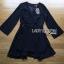 &#x1F380 Lady Ribbon's Made &#x1F380 Lady Lena Plain Basic Black Dress with Metal Ring thumbnail 5