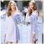 🎀 Lady Ribbon's Made 🎀 Lady Liz Two-Tone Off-Shoulder Cotton Shirt Dress thumbnail 3