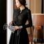 Cliona made' Miss Dior Black Lace Long Sleeves Dress - Mini dress thumbnail 3