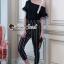 Seoul Secret Say's... Letterly Lace Line Cami Stripr Set thumbnail 1
