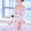 Seoul Secret Say's... Salmon Pink Blossom Summer Maxi Dress thumbnail 3