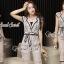 Seoul Secret Say's... Lacely Nood Color Black Rim Set Bow Waist thumbnail 5