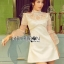 &#x1F380 Lady Ribbon's Made &#x1F380 Lady Hannah Little Princess Pure White Lace and Polyester Mini Dress thumbnail 1