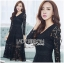 &#x1F380 Lady Ribbon's Made &#x1F380 Lady Amy Classic Black Lace Midi Dress thumbnail 3