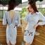 &#x1F380 Lady Ribbon's Made &#x1F380 Lady Lilly Chinoise Chic Backless Shirt Dress thumbnail 1