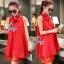 Sevy So Hot Ribbon Neck Sleeveless A Line Mini Dress thumbnail 2