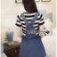 &#x1F380 Lady Ribbon's Made &#x1F380 Lady Lindsay Playful Street Style Denim Overall Dress thumbnail 1
