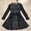 Cliona made' Miss Dior Black Lace Long Sleeves Dress - Mini dress thumbnail 5