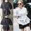 &#x1F380 Lady Ribbon's Made &#x1F380 Lady Elena Elegant Chic Button-Down White Lace Blouse with Ribbon thumbnail 2