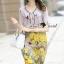 Seoul Secret Say's... Vintage Yellow Blossom Print Dress thumbnail 12