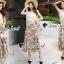 Seoul Secret Say's... Girly Creaming Lace Sleevless Bloom Skirt Set thumbnail 2