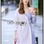🎀 Lady Ribbon's Made 🎀 Lady Liz Two-Tone Off-Shoulder Cotton Shirt Dress thumbnail 1