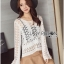 &#x1F380 Lady Ribbon's Made &#x1F380 Lady Elina Classic Vintage Crochet Lace Blouse thumbnail 2