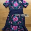 &#x1F380 Lady Ribbon's Made &#x1F380 Lady Daphne Colourful Flower Embroidered Ruffle Silk Dress thumbnail 4