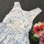 Sevy PP Blue Printed Sleeveless Sexy Back Maxi Dress thumbnail 8