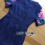 &#x1F380 Lady Ribbon's Made &#x1F380 Lady Daphne Colourful Flower Embroidered Ruffle Silk Dress thumbnail 3