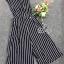 Sevy Stripes Wide Leg Sleeveless Collar Jumpsuit thumbnail 4