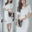 Cliona Made' Simplicity White + Fine Black Line Daily Dress thumbnail 2