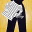 Sevy Two Pieces Of Stripes Sweater With Hally Bibs Suit Sets thumbnail 7