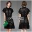 &#x1F380 Lady Ribbon's Made &#x1F380 Lady Christine Sweet Feminine Ruffle-Sleeve Lace Shirt Dress thumbnail 2