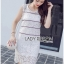 &#x1F380 Lady Ribbon's Made &#x1F380 Lady Kate Sporty Sweet White Lace Dress thumbnail 2