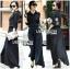 &#x1F380 Lady Ribbon's Made &#x1F380 Lady Elise Minimal Black Cotton Maxi Shirt Dress thumbnail 4
