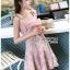 🎀 Lady Ribbon's Made 🎀Lady Eleanor Summer-Time Feminine Ribbon-Strap Lace Mini Dress thumbnail 3