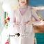 Seoul Secret Say's... Pastel Salmon Pink Girly Dress Outer Set thumbnail 6