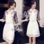 Sevy Make Up Stylish Women Organza Mini Dress(+Lining) thumbnail 4