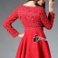 Cliona made'Luxury Lace Ribon Long Sleeves Dress - Mini dress thumbnail 4