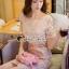 Seoul Secret Say's... Lovely Goldy Leaf&Flora Lace Dress thumbnail 3