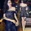 Cliona Made'Black Lace Sexy Shoulder Off Mini Dress - Mini Dress thumbnail 3