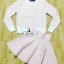 Sevy Two Pieces Of Houndstooth Stripes Cardigan With Mini Skirt Sets thumbnail 2