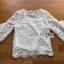 🎀 Lady Ribbon's Made 🎀Lady Bella Ruffle-Sleeve White Scallop Lace Blouse เสื้อผ้าลูกไม้ลาย thumbnail 5