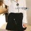 &#x1F380 Lady Ribbon's Made &#x1F380 Lady Grace Minimal Chic Monochrome White Shirt and Black Shorts Set thumbnail 4
