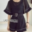 &#x1F380 Lady Ribbon's Made &#x1F380 Lady Courtney Casual Sunday Black Mini Playsuit with Belt thumbnail 4