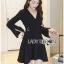 &#x1F380 Lady Ribbon's Made &#x1F380 Lady Lena Plain Basic Black Dress with Metal Ring thumbnail 1