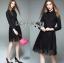 &#x1F380 Lady Ribbon's Made &#x1F380 Lady Kelly Minimal Feminine Poplin Cotton and Lace Shirt Dress thumbnail 5
