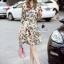 Korea Design By Lavida luxury red rose printed long sleeve dress thumbnail 1