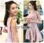 🎀 Lady Ribbon's Made 🎀Lady Eleanor Summer-Time Feminine Ribbon-Strap Lace Mini Dress thumbnail 1