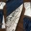 Seoul Secret Say's... Vee Stripy Ivory Lace Tops Denim Lace Side Split Set thumbnail 4